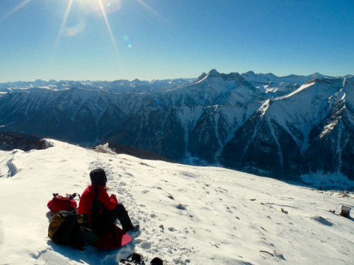 Snowshoeing on the Maritime Alps